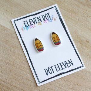 Jewelry - Kawaii Pencil School Teacher Kids Art Earrings